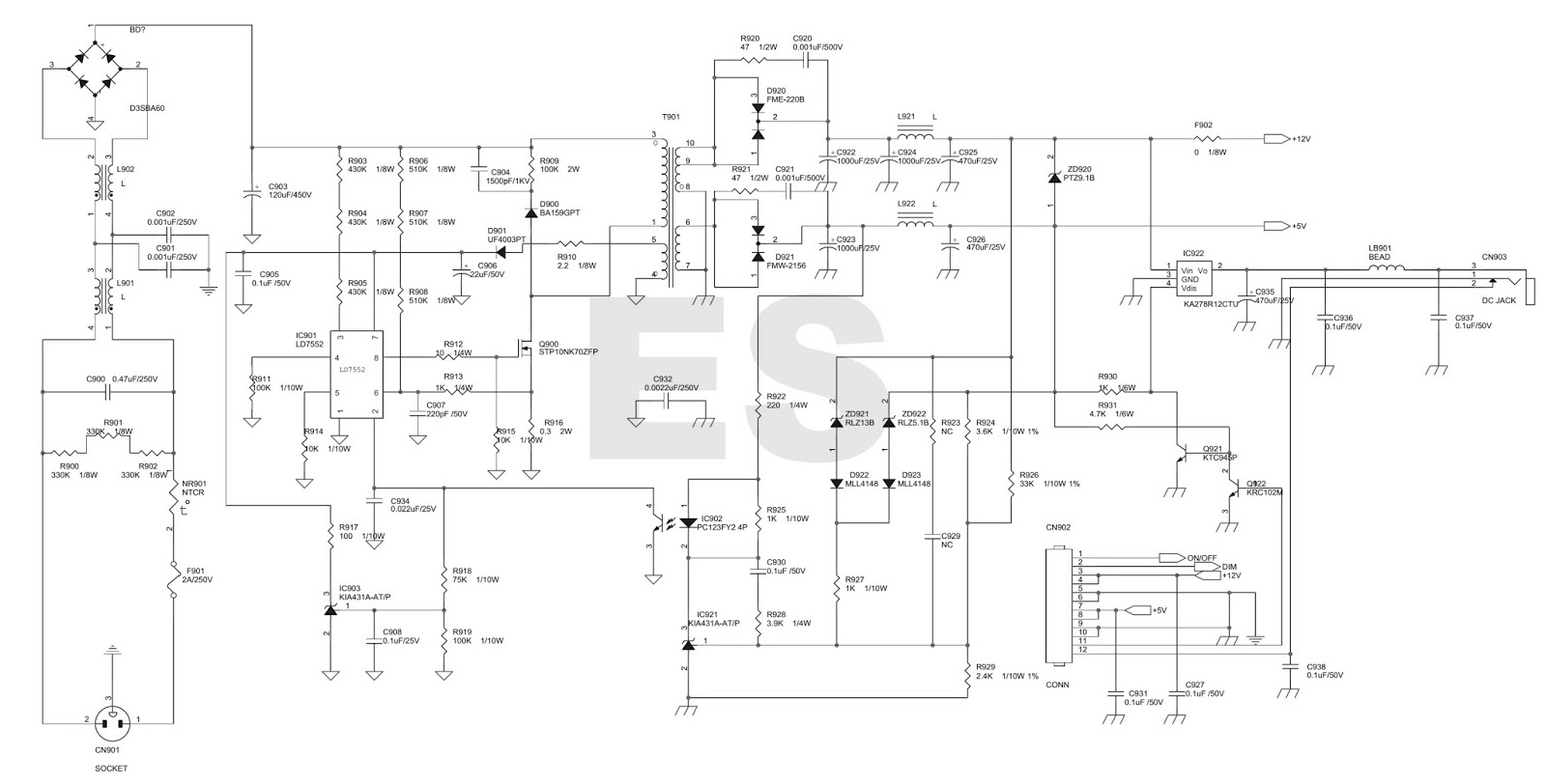 Electronic Equipment Repair Centre Dell 1907fpc Servcie Mode 25 To 25v Regulated Power Supply Circuit Diagram Back Light Inverter