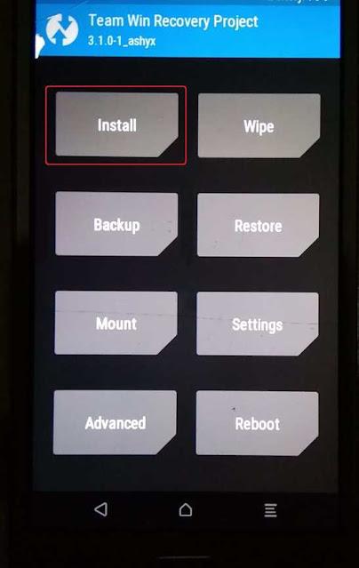instal magisk dengan twrp