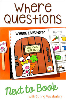 "Where is Bunny? interactive book with garden-gate pages and moveable garden-themed pieces. Teach the concept of ""next to"" with this book."