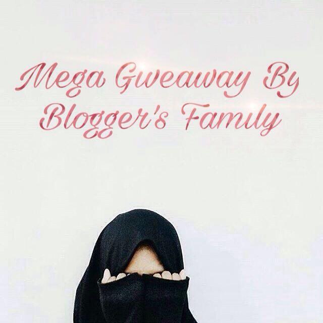 Giveaway, mega blogger family,