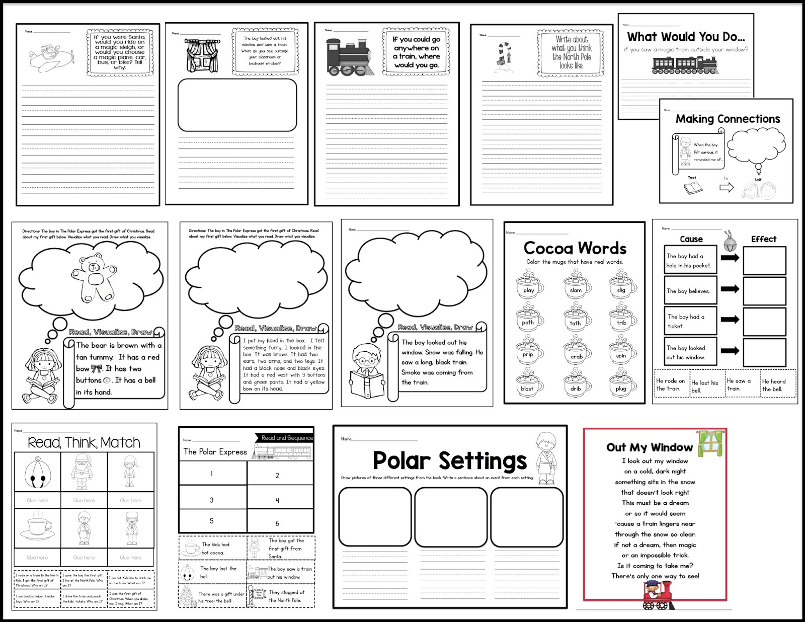 Sarah's First Grade Snippets: Polar Express Unit (with two