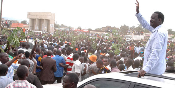 Image result for raila in kisumu