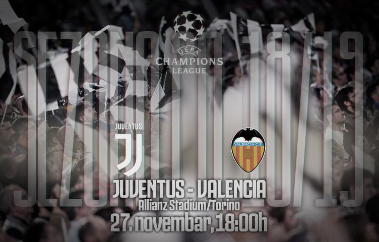 Liga prvaka 2018/19 / 5. kolo / Juventus - Valencia, utorak, 21h