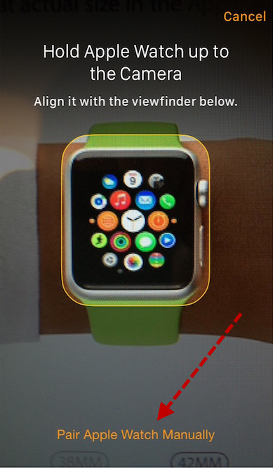 Pair Apple Watch With iPhone Manually