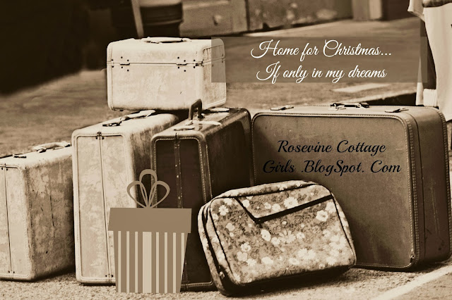 When the holiday's find you lost | photo of old suitcases on the edge of a sidewalk. | www.rosevinecottagegirls.com