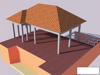 Bentuk akhir disain atap galvalum