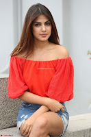 Rhea Chakraborty in Red Crop Top and Denim Shorts Spicy Pics ~  Exclusive 332.JPG