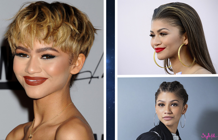 Teen hollywood celebrity Zendaya Coleman gives us beauty inspiration with her different hairstyles, accessories and makeup looks from cornrows to red lips
