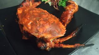 Cooked tandoori Crab food recipe Healthy Dinner Recipe