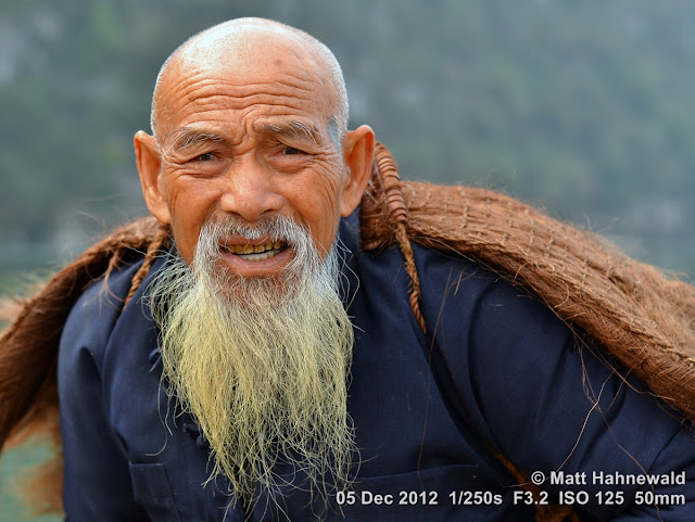 close up, people, Chinese people, Chinese man, portrait, street portrait, headshot, South China, Guangxi province, Xingping, Li river, old man, Chinese beard, fisherman