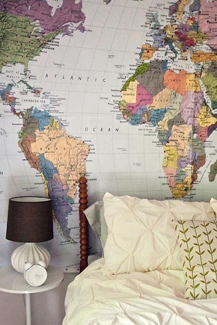 världskarta tapet sovrum barntapet fototapet barnrum