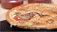 طرية عمل طاجن اللحم بالعجين الشيف