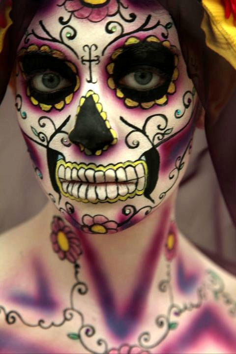 Throwback Thursday- Day of the Dead Makeup - Sunshine ...