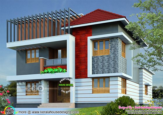 2717 square feet modern 4 bHK home design