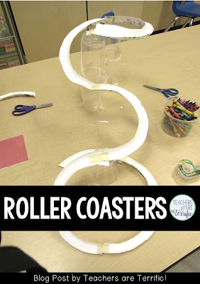 This post includes five different ways to complete a roller coaster challenge in your classroom. It's a kid-favorite challenge. Resource include teacher's guides, photos, and tips. #STEM #rollercoasters