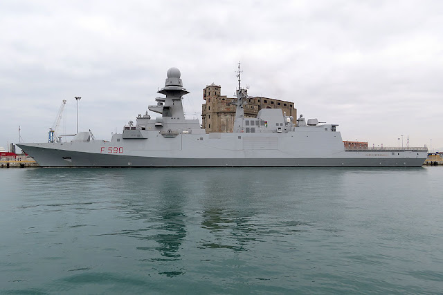 European multi-purpose frigate Carlo Bergamini F 590, port of Livorno