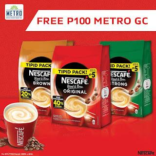 NESCAFÉ Blend & Brew Promo, Nescafe free Gift Check