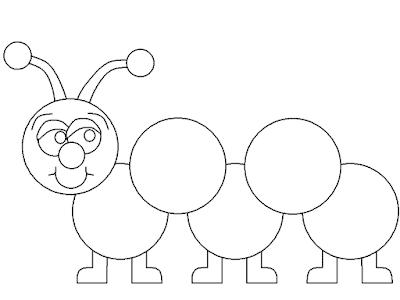 Gambar Mewarnai Ulat Imut - 7
