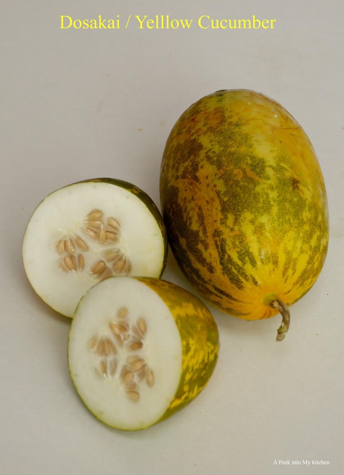 A Peek Into My Kitchen Dosakai Pappu Yellow Cucumber