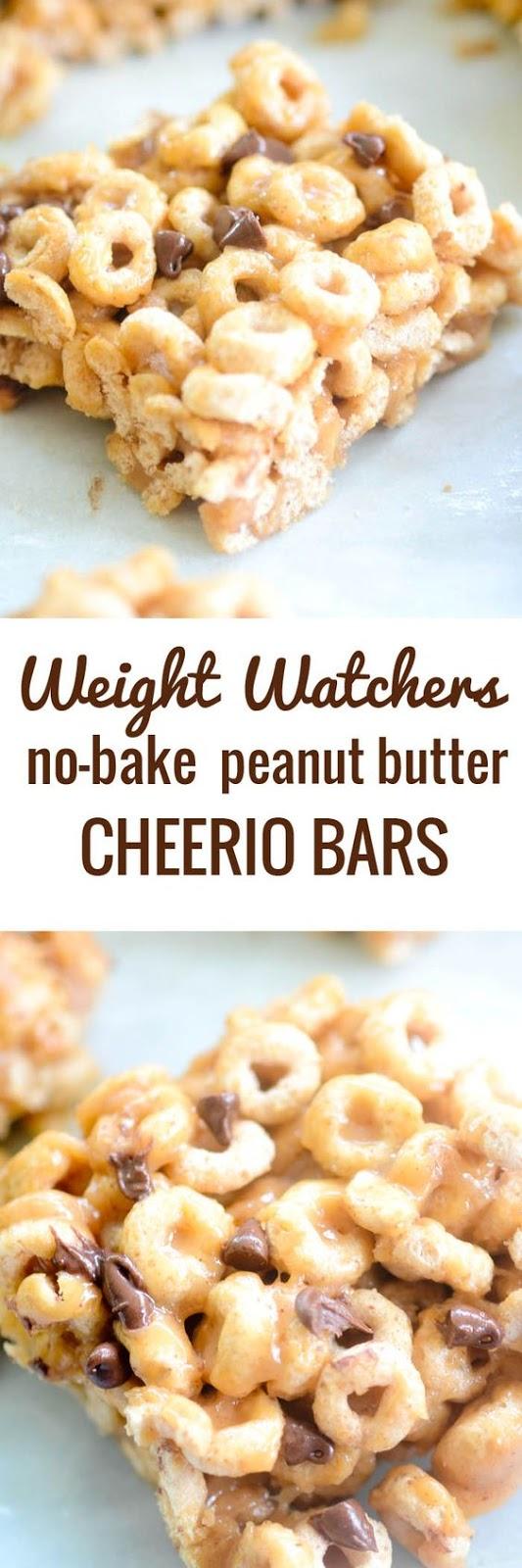 weight watchers no bake peanut butter cheerio bars