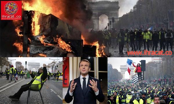 paris gösteriler, sarı yelekliler, yellow jackets