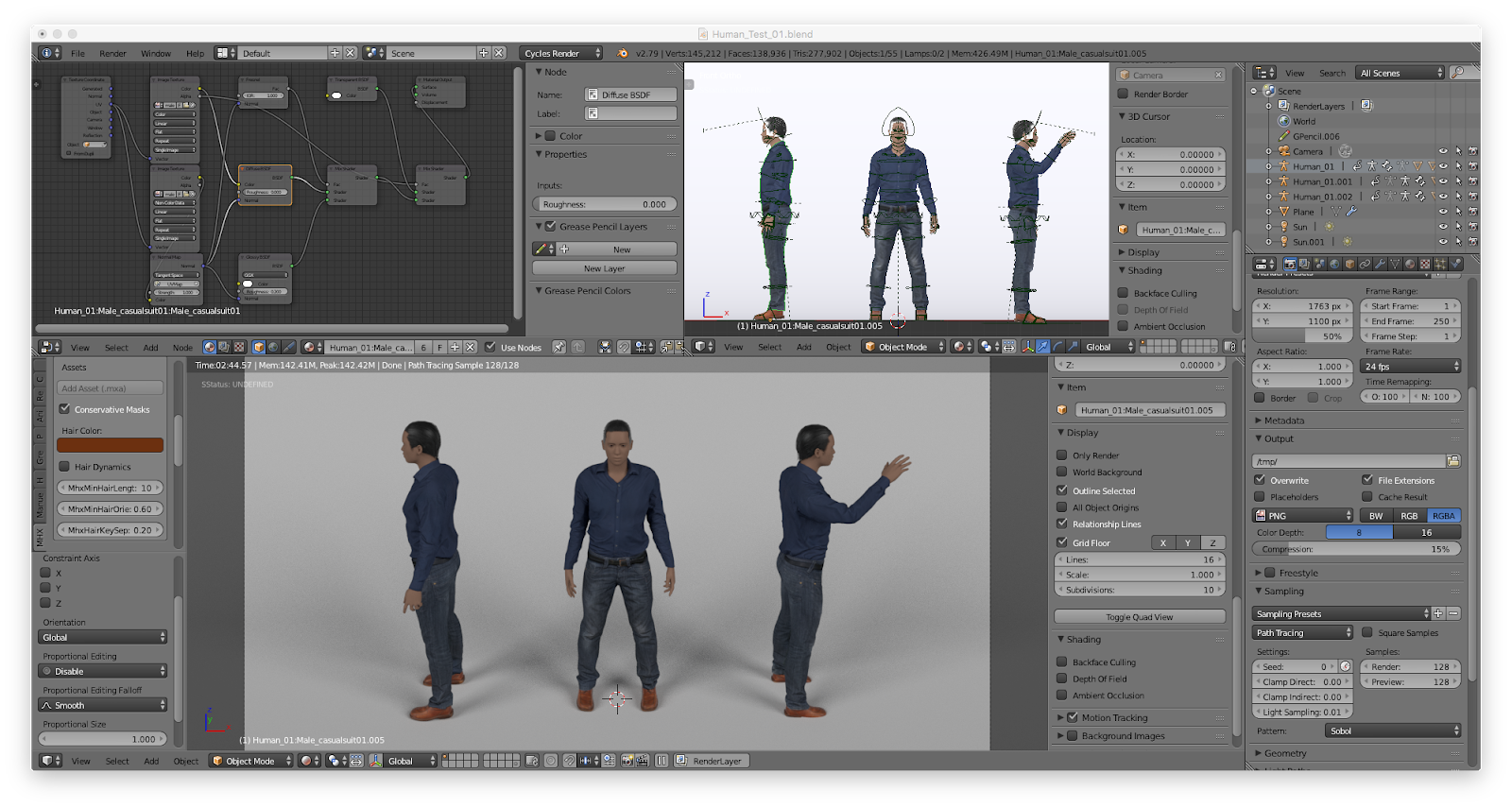 3D Characters for Blender 3D using Adobe Face and MakeHuman
