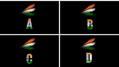 Indian Flag DP Alphabet A to Z Letter Name Dp Images For WhatsApp & Facebook 2020