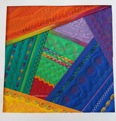 Bernina crazy color mystery quilt 2017 blok 2