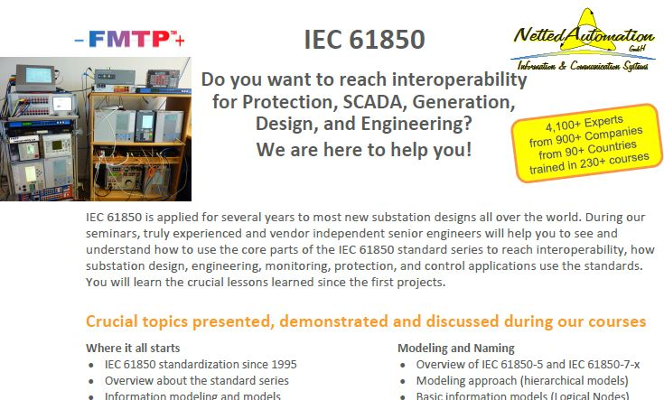 News on IEC 61850 and related Standards: 2016