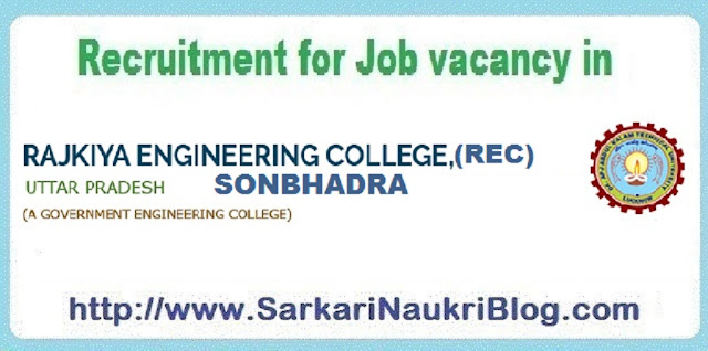 Naukri Vacancy Recruitment REC Sonbhadra