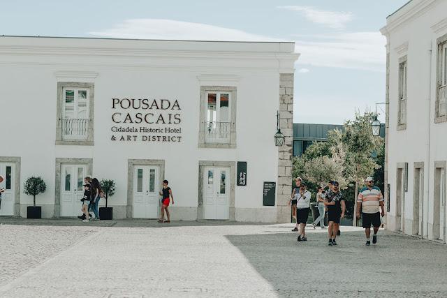 Uma cena muito gira em Cascais art district cidadela