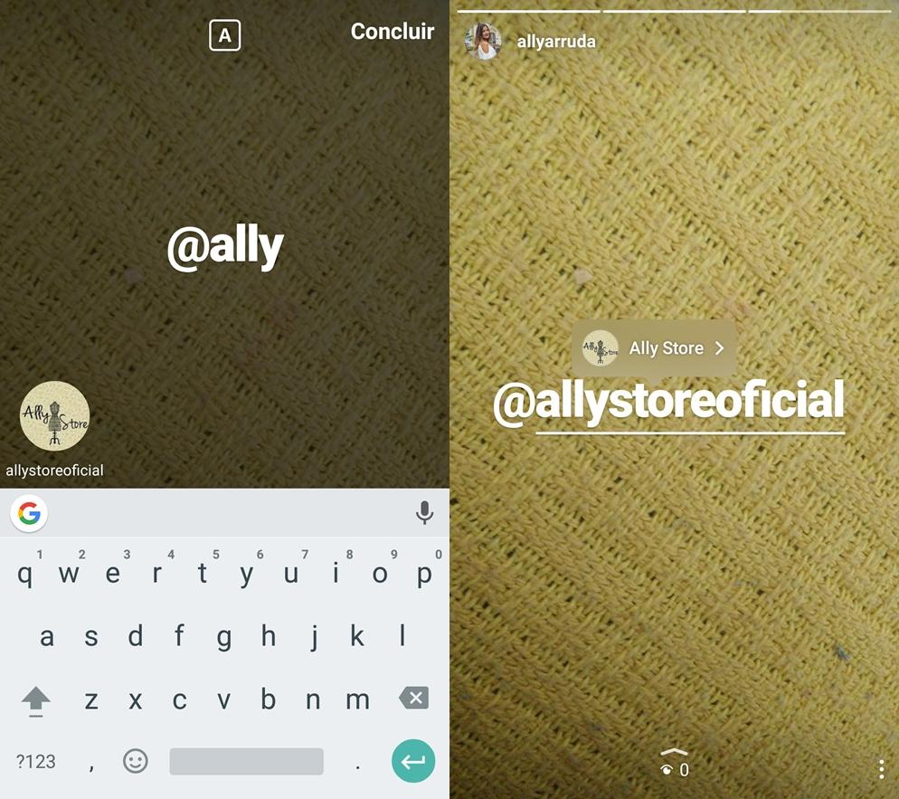 Mencionar pessoas nas histórias do Instagram