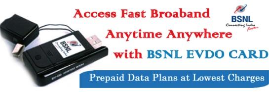 BSNL EVDO Prepaid Limited Unlimited Internet Plans