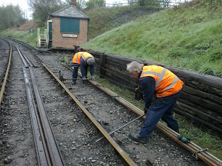 Malcolm and Malcolm turning out 90 lb/yd 30' BH rails