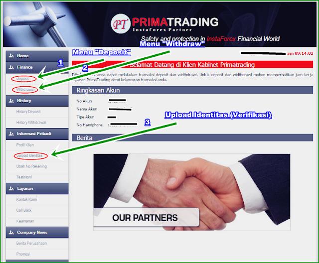 Gambar dan Panduan Trading Forex di Introducing Broker PrimaTrading Indonesia