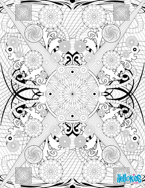 Rosette Intricate Patterns Worksheet