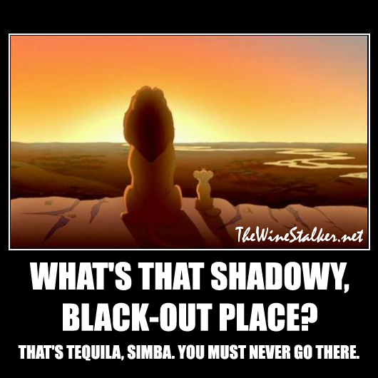 That's tequila, Simba. You must never go there.