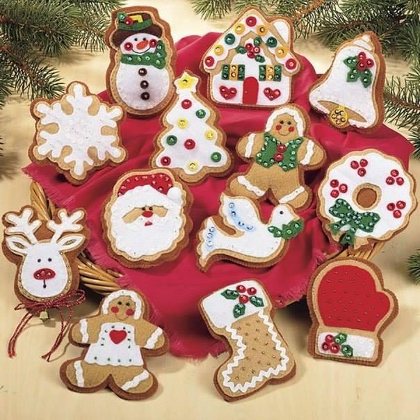 11 moldes para hacer mu ecos y adornos navide os en - Figuras de fieltro para navidad ...