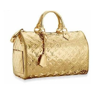 Gold Monogram Louis Vuitton Bag