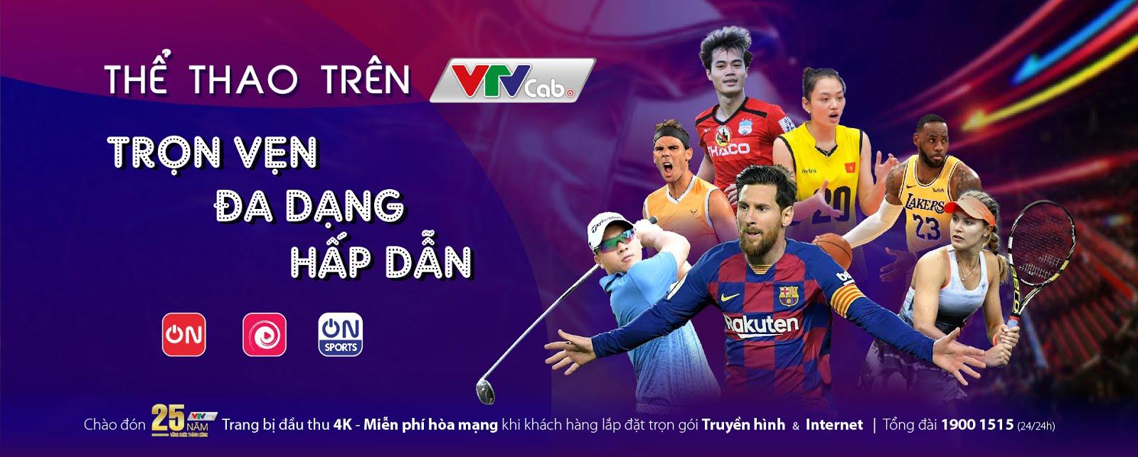 Trọn vẹn thể thao trên VTVCab