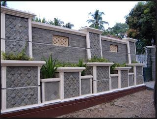 Contoh Bentuk Model Pagar Rumah Minimalis