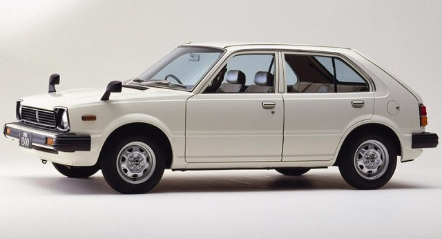 White Honda Civic Second Generation 5-door