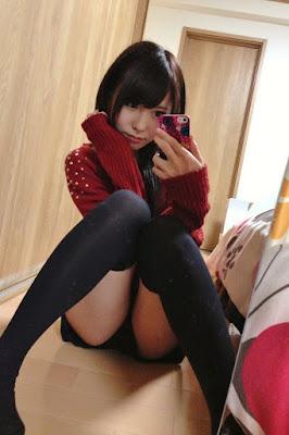 Chika Amimura Bintang Porno Jepang mahsiswi jepang pame celana dalam dan paha mulus seksi