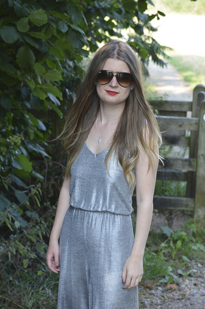 primark metallic jumpsuit bloggers