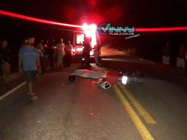 Chapada: Motociclista morre após colidir contra animal na BA-148