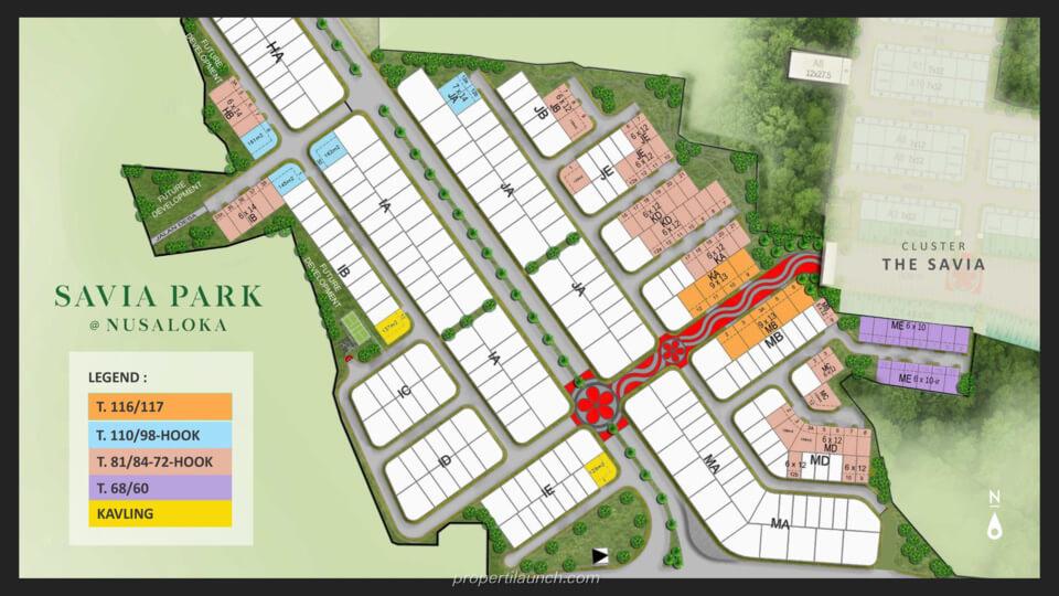 Siteplan Rumah Savia Park @ BSD