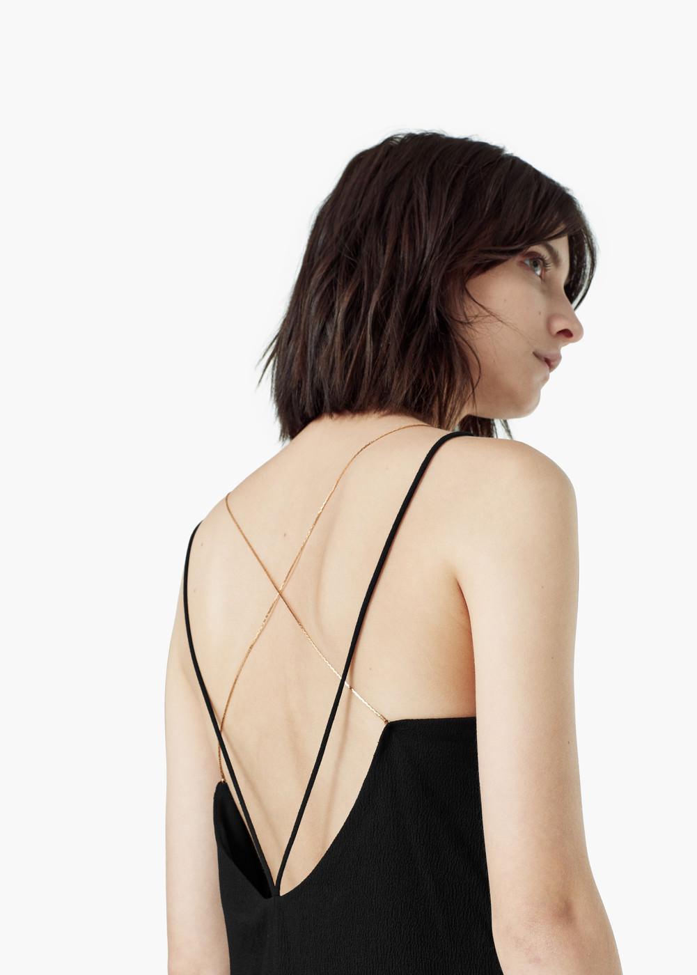 Vestido negro mango 2015