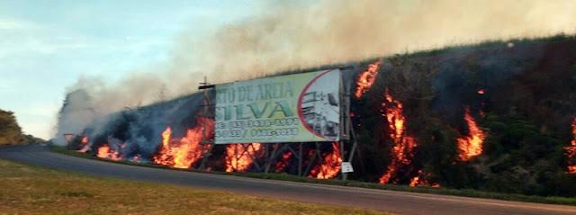 Manoel Ribas: Tempo seco propicia queimadas em rodovias