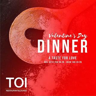 toi istanbul sevgililer günü özel akşam yemeği