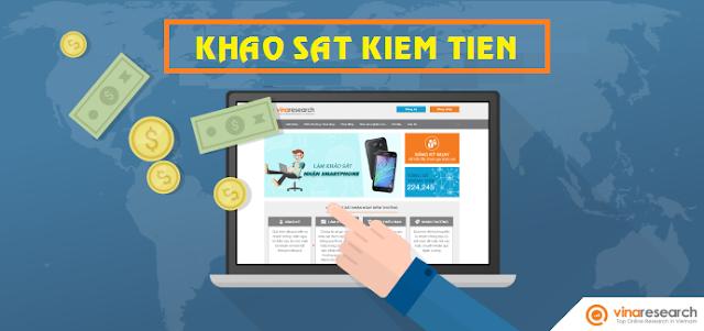 Vinaresearch, khảo sát kiếm tiền, khao sat kiem tien, khảo sát kiếm tiền trực tuyến Vinaresearch
